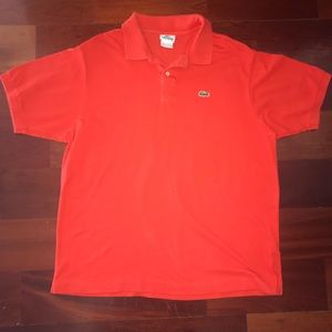 Lacoste polo shirt orange size 6 Large Mens